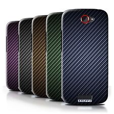STUFF4 Back Case/Cover/Skin for HTC One S/Carbon Fibre Effect/Pattern