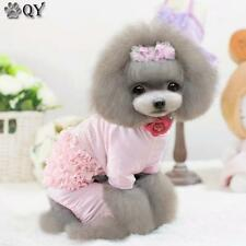 Clothing For Dogs Puppy Pet Dog Clothes Cotton Beading Dog Pajamas Cake Pants