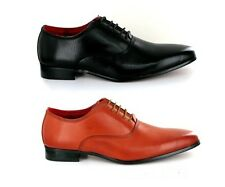 Rossellini Mens Leather Shoes Black Brown Lace up Classic Formal Size 6/12