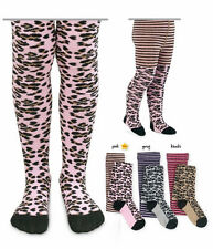 JEFFERIES Cotton Animal Print Footed Tights Leopard Zebra Ages 2-10 Wild!