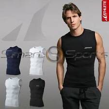 ATHLETE BX Basic Mens Baselayer Lightweight Compression Sleeveless Tank Top Skin