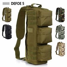 Tactical Assault Outdoor Sport Bag Big Shoulder Messenger Sling Riding Backpack
