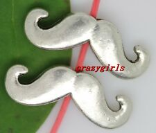 10/50/300pcs Tibet silver mustache Interval Charms Spacer Beads DIY 16x6mm