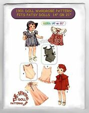 "For Shirley - Patsy Doll Wardrobe Pattern 14"" or 22"" Pattern Vintage 1901"