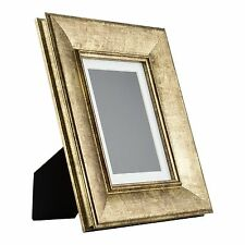 Verandah Table-Top 5x7 Vintage Aged Gold Standing Picture Frame with Mat