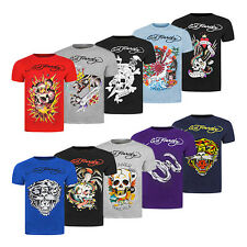 Ed Hardy Graphic Crew T-Shirts - New Classic Retro Collection