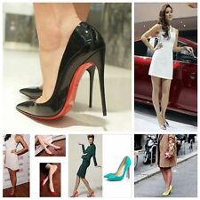 2015 New Sexy Womens High Heels Pointed Toe Shallow Mouth Stilettos Shoes N224