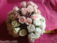 WFCF10 Bunch of 12 Foam Rose bud's Artifical flowers available in NOW 4 colour's