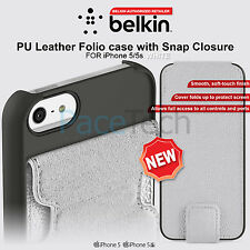 Belkin PU Leather Folio Case With Snap Closure  Fold Flip Cover for iPhone 5 5s