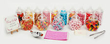 PLASTICA SWEET BARATTOLI PINZA & Sacchetti CANDY WEDDING PARTY KIDS Pick & Mix
