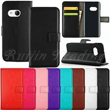 Book Flip Leather Wallet Stand w/ pouch Case Cover For HTC One Mini 2 2014