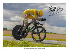 BRADLEY WIGGINS 2015 SIGNED PRINT POSTER PHOTO AUTOGRAPH 2012 TOUR D