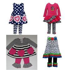 New Bonnie Jean Baby Girl Tunic Dress Leggings Set Outfit Size 6-9 MO 12 MO