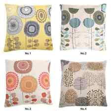"18"" Square Home Decor Cushion Cover Throw Pillow Case Hold Sofa Flower Linen"