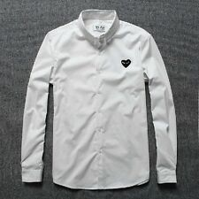 Comme des Garcons CDG  PLAY white color black  heart long sleeve T-shirt
