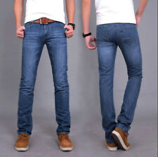 Men's Classic Jeans Stylish Designed Straight Slim Fit Trousers Casual Pants