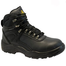 MENS AMBLERS WATERPROOF LEATHER SAFETY BOOTS STEEL TOE CAP HIKER WORK SHOES NEW