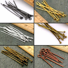 50/200 Eye Pin Flat Head Pin Ball Pin Jewelry Finding Craft 16/20/30/40/50/60mm