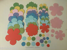 Stampin Up Fun Flowers Die Cuts Color Brights, Subtles, Neutrals, Regals Incolor