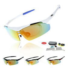 Professional Polarized Cycling Glasses Bike Sports Sunglasses TR90 UV400 5 Lens