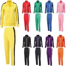 Mens Womens Running Jogging Track Suit Warm Up Jackets Pants Gym Training Wear