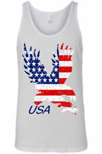 Men's Tank Top USA Flag American Bald Eagle Stars & Stripes Old Glory Patriotic