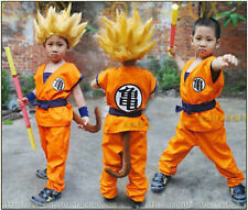 NEW Dragon Ball Z Child Kids Son GOKU Turtle Word Cosplay Party Costume
