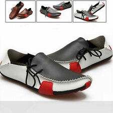 New Mens Summer Soft Casual Leather Loafers Slip On Moccasin Driving Shoes LV21