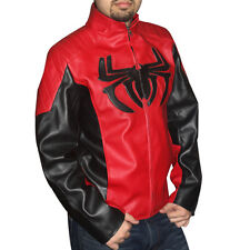 The new spider man 2 leather jacket with padded logo on the front. High quality.