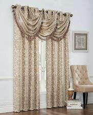 "Luxury Verano Grommet top Panel  84"" long or fringed waterfall valance"