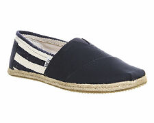 Mens Toms University Classic Slip Ons NAVY Casual Shoes