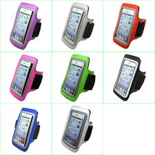 Gym Sports Running Jogging Cycling Armband Arm Band Leather Case Pouch Cover #B
