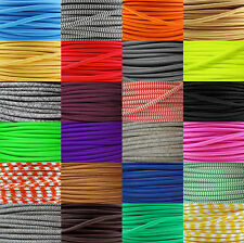 coloured braided fabric lighting cable, vintage, industrial, silk flex, lamp