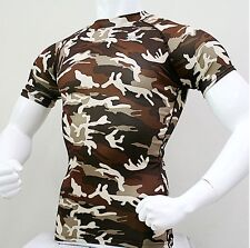 063 Take Five Mens Compression Base Layer Military Short Sleeve Shirt Rash Guard