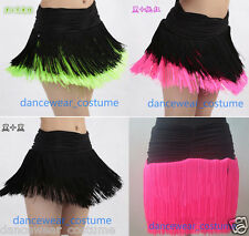 Latin Skirt Ladies Party Ballroom Competition Fringe Tassels Skirt Dance Dress 4