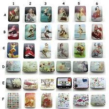 Pin-Up Girl Beer Small Jewelry Pill Gum Storage Tin Metal Box  Container AU338