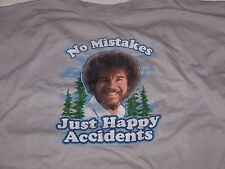 Bob Ross Mens T-Shirt : No mistakes Just Happy Accidents