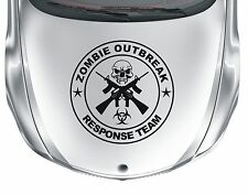 Zombie Oubreak #2 - vinyl skull & cross-guns car van sticker decal - WS1022