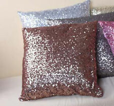 Solid Color Glitter Sequins Throw Pillow Case Lounge Cafe Decor Cushion Cover