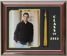 GRADUATION  FRAME MAHOGANY 8x10 PIC WITH TASSEL