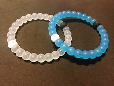 NWT Bracelet Mud from Dead Sea Water from Mount Everest Blue & Clear Size S M L