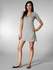 AMERICAN APPAREL COTTON FINE JERSEY SHORT CREW NECK WOMEN T SHIRT DRESS RSA2314