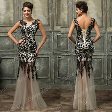 VINTAGE Style Mother of the bride /Groom Gowns Long prom Evening Wedding dresses