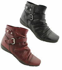 GINO VENTORI TASHA WOMENS/LADIES SOFT LEATHER COMFORTABLE ANKLE BOOTS/SHOES/FLAT