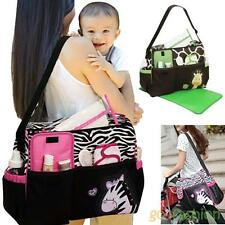Multi-Functional Diaper Baby Nappy Changing Bag Changing Mat Mummy Tote Handbag