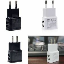 Home US/EU Plug Dual 2-Port USB Wall Charger Adapter For iphone ipod Samsung LG