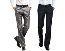 New Mens Business  Dress Pants Wedding Formal Casual front  suit pants trousers