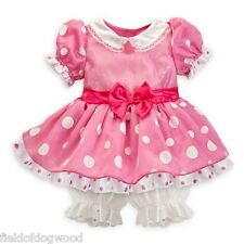 DISNEY STORE Pink MINNIE MOUSE Costume Baby Dress Size 3 6 9 12 months New