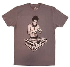 Adult Charcoal Martial Arts Music Bruce Lee DJ As Seen On Avengers T-Shirt Tee