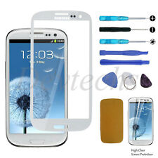 FRONT SCREEN GLASS LENS REPLACEMENT REPAIR KIT for SAMSUNG GALAXY S3 i9300 White